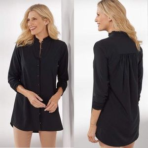 Soft Surroundings Black Button Up Vivian Shirt